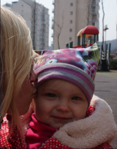 Lina med dotter