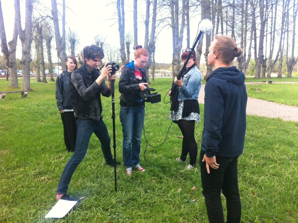 Mina TV-elever gör inslag inför 70-års jubileum av Kaggeholms fhsk.