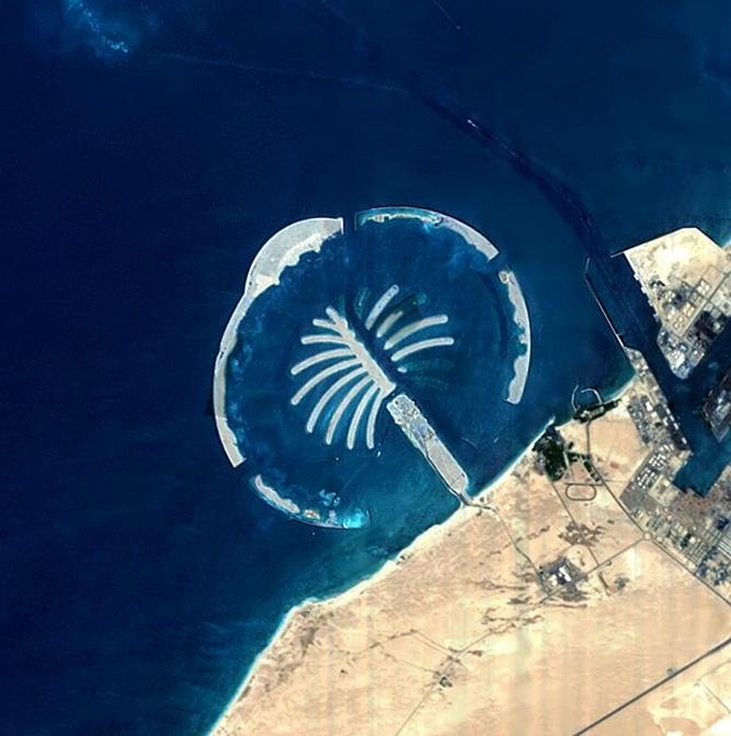 Detta bygge i Dubai har gått i stå. Foto: Wikipedia
