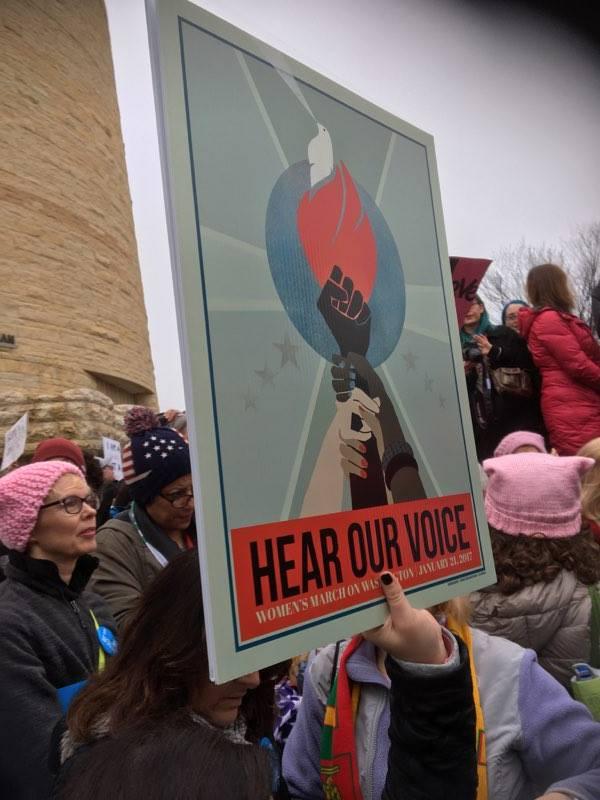 Svenska Jo Koerth demonstrerar för kvinnors rättigheter i Washington DC i helgen